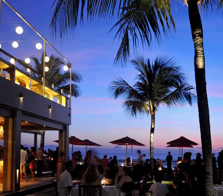 A perfect place to see the sunset, Kudeta beach club in Seminyak